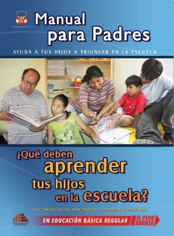 Manual de Padres ( formato PDF ) - La Educación Básica Regular ...