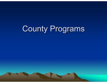 County Programs Presentation