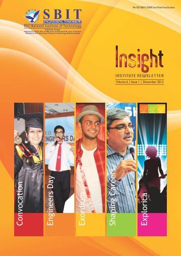 SBIT Insight Newsletter Vol 6 Issue 1 Dec 2012