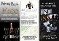 Conference Brochure Bowfield 6p - Bowfield Hotel and Country Club