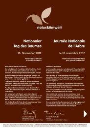 Journée Nationale de l'Arbre Nationaler Tag des ... - natur&ëmwelt