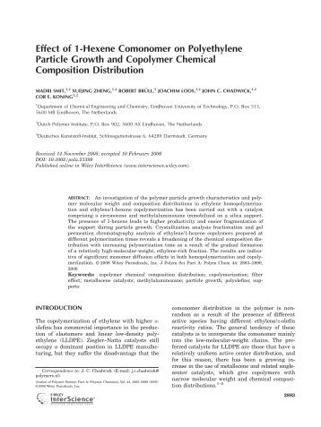 Effect of 1-hexene comonomer on polyethylene particle growth and ...