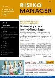 Risikoanalyse von Immobilienanlagen - RiskNET GmbH