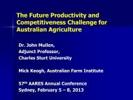 the future productivity and competitiveness challenge for australian ...