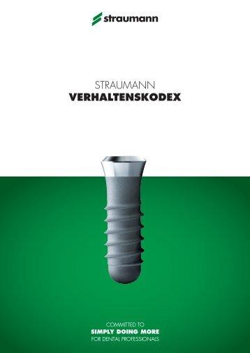 Straumann VERHALTENSKODEX