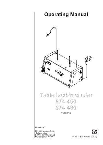 Table bobbin winder - ZSK Stickmaschinen GmbH