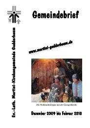 Gemeindebrief Dezember 09 - Ev.-Luth. Martini-Kirchengemeinde ...