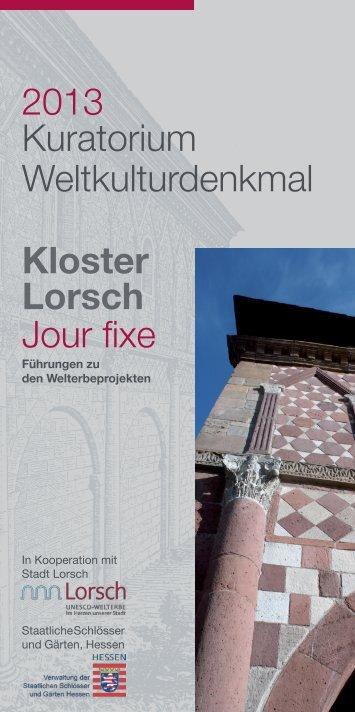 Flyer Jour Fixe 2013-2. Halbjahr - Staatliche Schlösser und Gärten ...