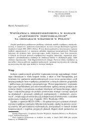 partnerstw terytorialnych - Studia Regionalne i Lokalne