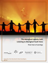 The Aboriginal Capacity Cafe - BC Society of Transition Houses