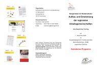 Aufbau und Entwicklung der regionalen Arbeitsgemeinschaften