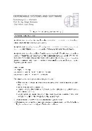 Übungsblatt 15 - Dependable Systems and Software