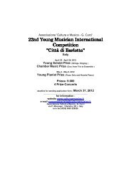 22nd Young Musician International Competition
