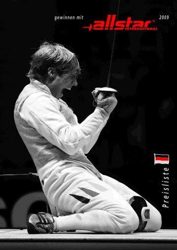 Preisliste Allstar - Fecht-Sport H. Lieffertz Köln