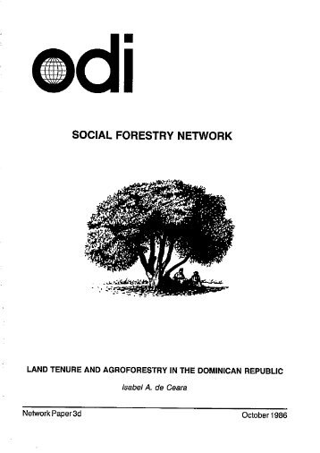 Land Tenure and Agroforestry in the Dominican ... - The REDD Desk