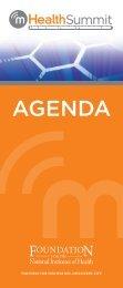 Agenda mHealth Summit 2009