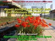 Aspetti biologici ed ecologici della flora infestante ... - Enrico Avanzi