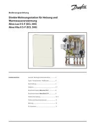 Akva Vita II SF - Fernwärme-Komponenten - Danfoss GmbH