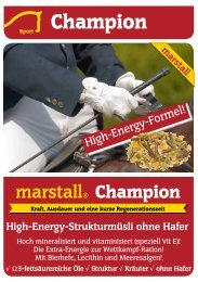 High-Energy-Strukturmüsli ohne Hafer - Marstall