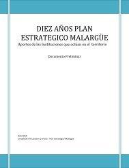 Aportes de las Instituciones - Plan Estratégico de Malargüe