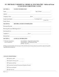 Gynecology/Obstetrics referral form - St. Michael's Hospital