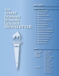 Honors Newsletter Fall08.indd - Albert Dorman Honors College