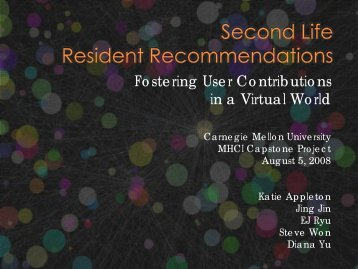Resident Recommendations - Carnegie Mellon University
