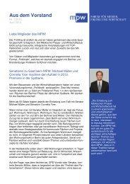 MPW Newsletter Ausgabe April 2013 - Märkischer Presse