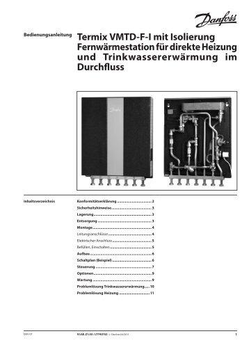 Bedienungsanleitung Termix VMTD-F-I mit Isolierung ...