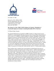 joint comments - National Milk Producers Federation
