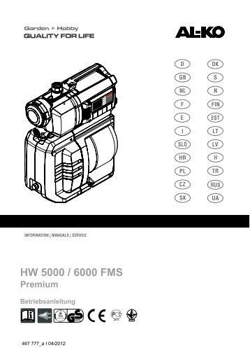 HW 5000 / 6000 FMS - AL-KO Garten + Hobby