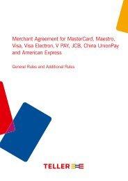 Merchant Agreement for MasterCard, Maestro, Visa, Visa ... - Nets