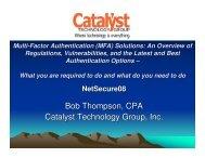 Bob Thompson, CPA Catalyst Technology Group, Inc. - School of ...