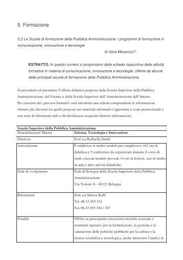 Le Scuole di formazione della Pubblica Amministrazione - Icomit.it