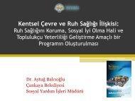 Kentsel Çevre ve Ruh Sağlığı İlişkisi: Ruh Sağlığını Koruma, Sosyal ...