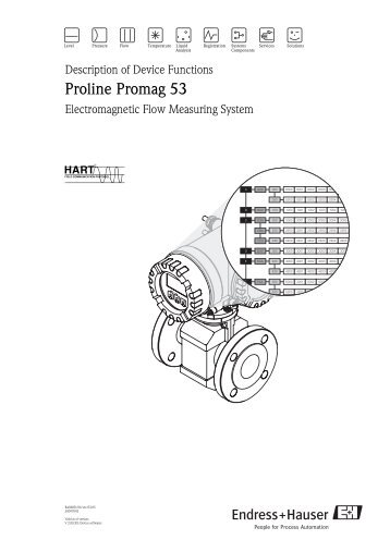 Promag 23P Flow measurement in chemical or process applications