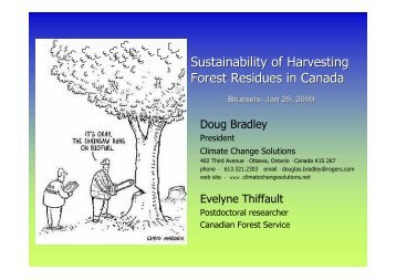 Sustainability of Harvesting Forest Residues in Canada