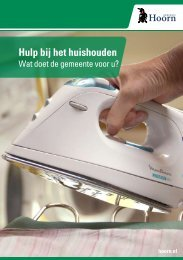 Hulp bij het huishouden - Gemeente Hoorn