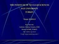 ege university, institute of nuclear sciences