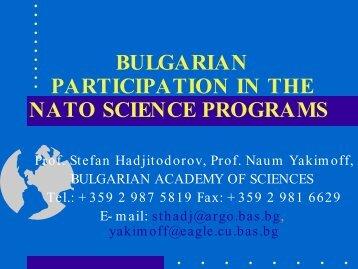 Stefan Hadjitodorov - TCPA Foundation