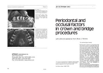 Periodontal and occlusal factors in crown and bridge ... - ellman