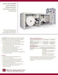 Martin Modell MBX Automatischer ... - Martin Automatic Inc