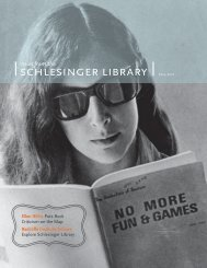 schlesinger library - Radcliffe Institute for Advanced Study - Harvard ...