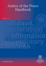Justice of the Peace Handbook - South Australian Attorney ...