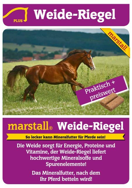 Weide-Riegel - Marstall