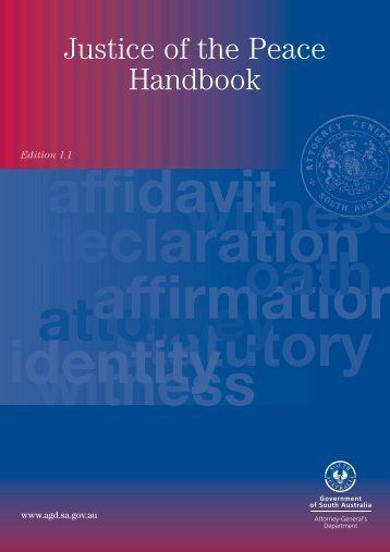 Justice of the Peace Handbook - Attorney-General's Department