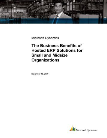 The Business Benefits of Host ERP Solutions for Small and ... - Tensoft