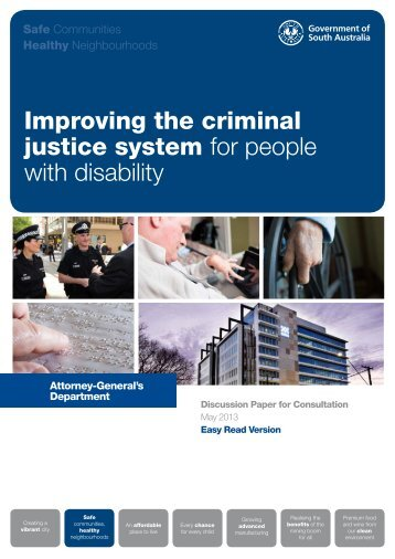 Improving the criminal justice system for people with disability
