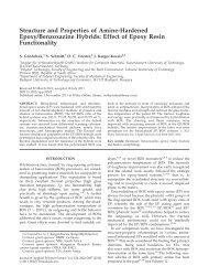 Effect of epoxy resin functionality