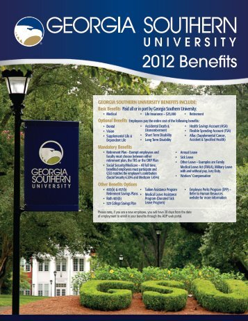 2012 Benefits - Georgia Southern University